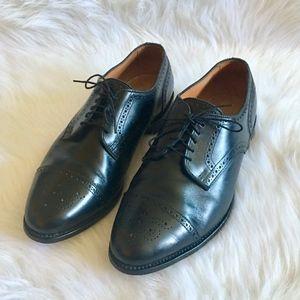 Allen Edmonds Sanford Black Leather Cap Toe Oxford
